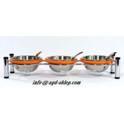 Zestaw do sosów dipów z łyżeczką  Salaterki i półmiski