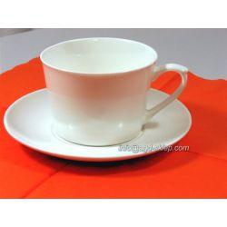 Filiżanki serwis 6 filiżanek ze spodkami porcelana