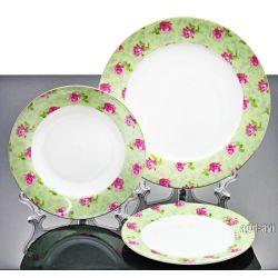 Serwis obiadowy porcelana Bone China Green