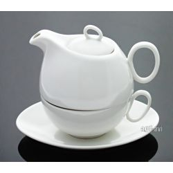Filiżanka + spodek i czajniczek Domestic