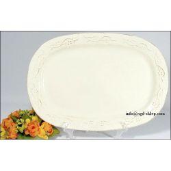 PÓŁMISEK owal 37cm FLORES ceramika