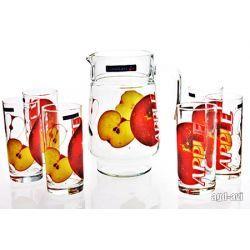 Zestaw do napojów 7cz. Apple dzbanek szklanki Luminarc