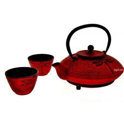 Zestaw do herbaty 4cz Sushi żeliwny czerwony