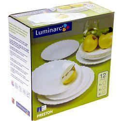 Promocja Serwis obiadowy Preston biały Luminarc