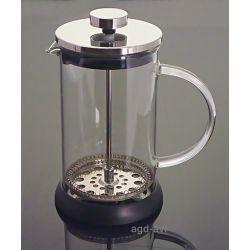 Dzbanek zaparzacz tłokowy szklany do herbaty, ziół, kawy