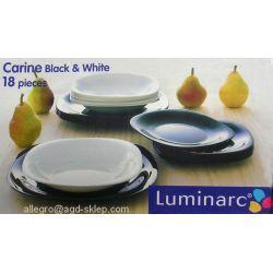 Serwis obiadowy Carine czar/biały 18cz. Luminarc