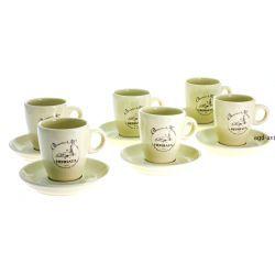 Filiżanki + spodki Herbata 12cz ceramika