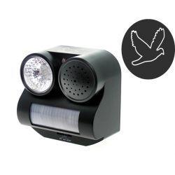 Odstraszacz ptaków błyskowo dźwiękowy z czujnikiem ruchu