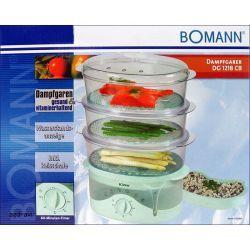 Parowar Bomann 3 poj. zdrowe gotowanie na parze