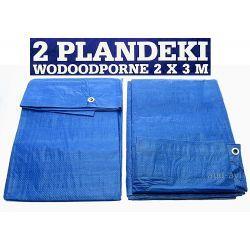 Plandeka plandeki 1,8 x 2,8 m 2 szt. niebieska Architektura ogrodowa