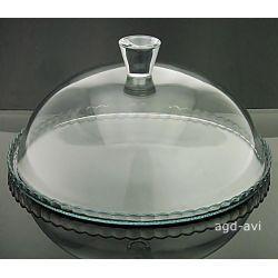 Klosz szklany patera z kloszem pokrywą 32cm