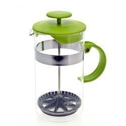 Dzbanek zaparzacz tłokowy do herbaty, ziół zielony 1L