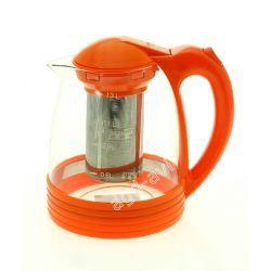 Dzbanek zaparzacz żaroodporny 1,3L pomarańczowy