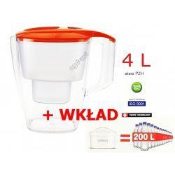 Dzbanek filtrujący filtr Dafi 4L wkład gratis pomarańcz Kieliszki i pucharki