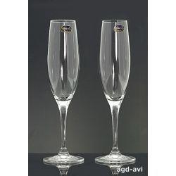 Kieliszki do szampana Bohemia Crystal 220ml Kieliszki i pucharki