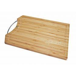 Deska do krojenia bambus z metalowym uchwytem SABATIER