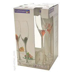 Kieliszki do szampana Luminarc Drip Rouge