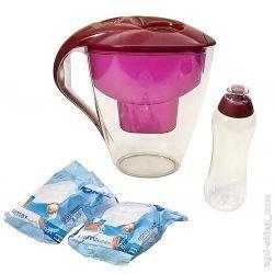 Dzbanek filtr do wody 3L bordowy 2 wkłady bidon