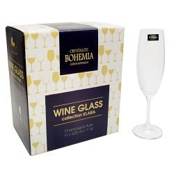 Kieliszki do szampana czeska marka Bohemia Crystal Miksery i blendery