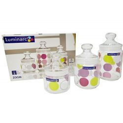 Słoiki hermetyczne do żywności 3szt Luminarc Zoom Pojemniki kuchenne