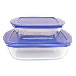 2 Pojemniki żaroodporne do żywności mrożonek Pyrex Naczynia żaroodporne