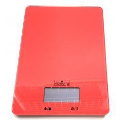 Waga kuchenna szklana 5kg elektroniczna czerwona Wagi i miarki kuchenne