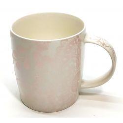 Kubek ceramika Bone China perłowy beż 350ml