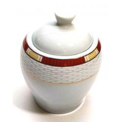 Cukiernica z pokrywką biała porcelana cegiełka Wyposażenie