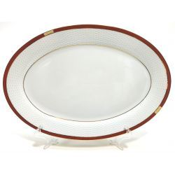Półmisek Owalny Cegiełka PPH Waza porcelana 30cm