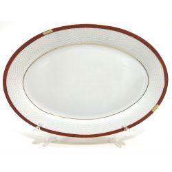 Półmisek Owalny Cegiełka PPH Waza porcelana 22,5cm