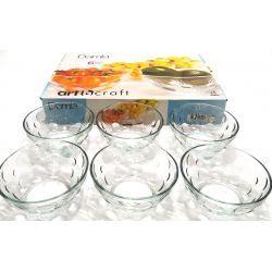 Salaterka miseczka szklana 10cm Art Craft 6szt