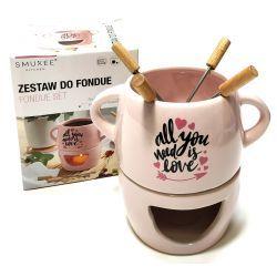 Słodkie chwile Fondue do czekolady ceramiczne róż