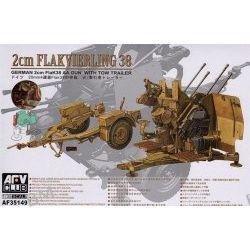 FlaK 38 Anti Aircraft Gun with Trailer