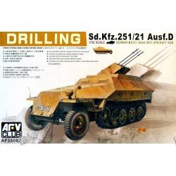 Sd.Kfz.251/21 Ausf.D Drilling MG151/20 Early-Late model