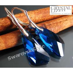 Kolczyki SWAROVSKI  Wing Capri Blue 238
