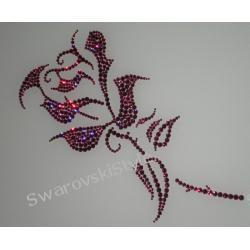 RED ROSE kryształy CRYSTALLIZED TM - Swarovski Elements