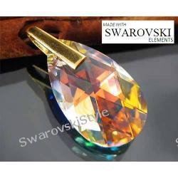 Wisiorek SWAROVSKI crystal AB DUŻY złoto 400