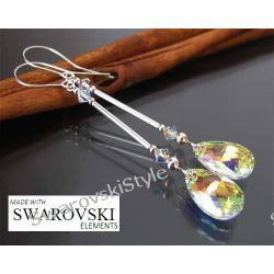 Kolczyki SWAROVSKI migdały crystal AB 226