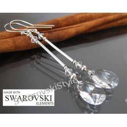 Kolczyki SWAROVSKI migdały crystal 224