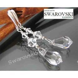 Kolczyki SWAROVSKI kropleki crystal 528