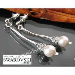 Kolczyki SWAROVSKI perly krysztaly 500