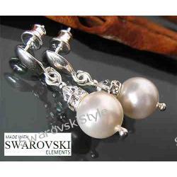 Kolczyki SWAROVSKI perly krysztaly 502