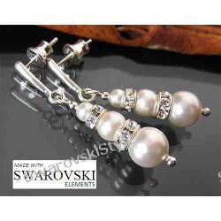 Kolczyki SWAROVSKI perly ślub ślubne 501
