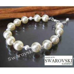 Elegancka bransoletka SWAROVSKI perły 205
