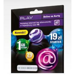 PLAY ON-LINE ZESTAW STARTOWY 1GB INTERNET NA KARTĘ