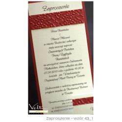 Zaproszenie ślubne wzór 43A