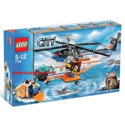 LEGO CITY 7738 HELIKOPTER + TRATWA RATUNKOWA