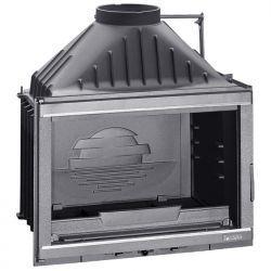 Wkład kominkowy LAUDEL 700 GRANDE VISION z szybrem, srebrne wykończenie ref. 6270-51-SL