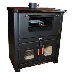 Piec kuchenny na drewno do centralnego ogrzewania KOPER Maestro E czarny