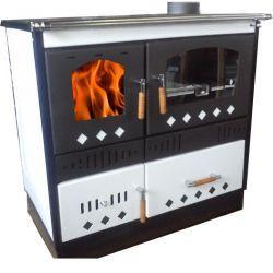 Piec kuchenny na drewno do centralnego ogrzewania KOPER Special 90 GRE biały